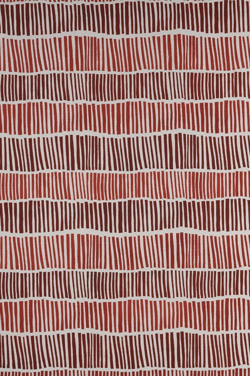 Broken Stripe in Burnt Red 1