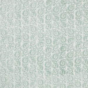 Floral in Seafoam on White