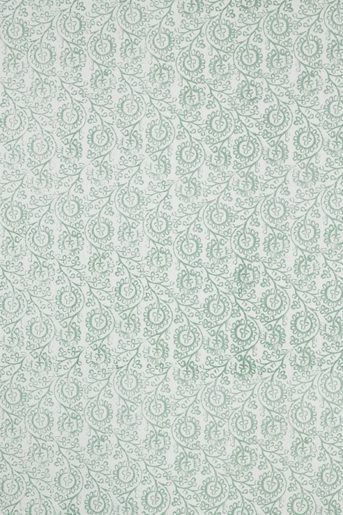 Floral in Seafoam on White 1