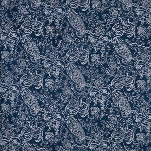 Paisley in Flat Navy