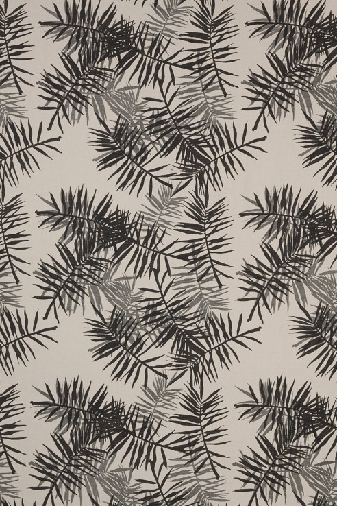 Palmfrond in Charcoal & Grey 1