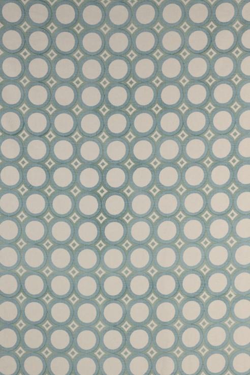 Retro Cirlces in Aqua & Seafoam 1