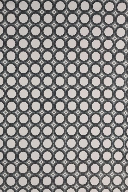 Retro Cirlces in Charcoal & Grey 1