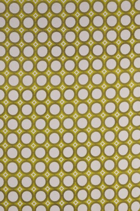 Retro Cirlces in Chartreuse & Lemon 1