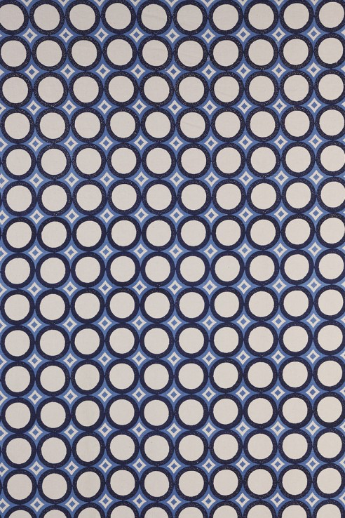 Retro Cirlces in Indigo & Periwinkle 1