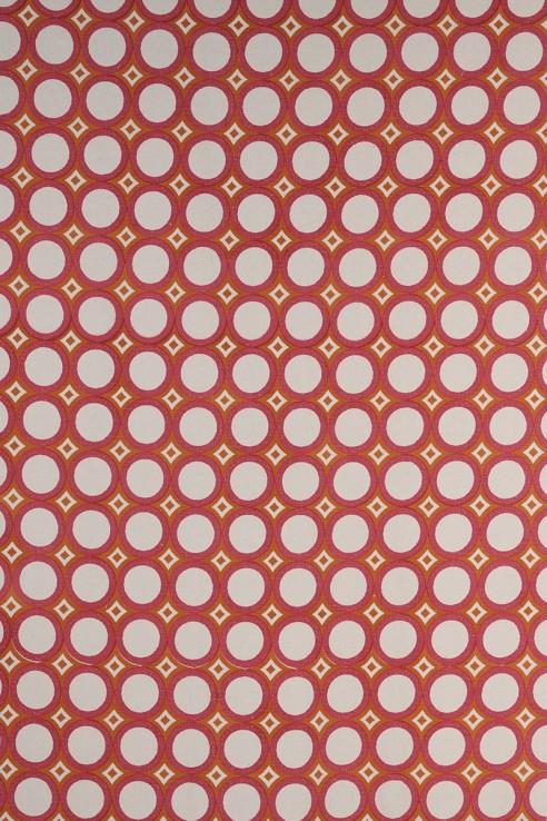 Retro Cirlces in Pink & Orange 1