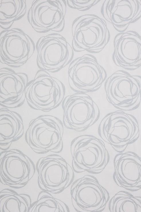 Swirl in Silver on White 1