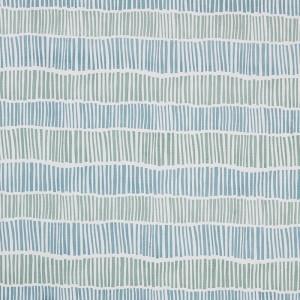 Broken Stripe in Aqua & Seafoam on White