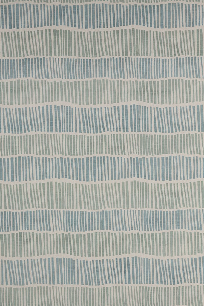 Broken Stripe in Aqua & Seafoam