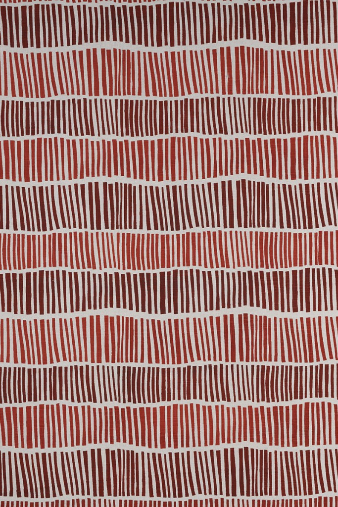Broken Stripe in Burnt Red