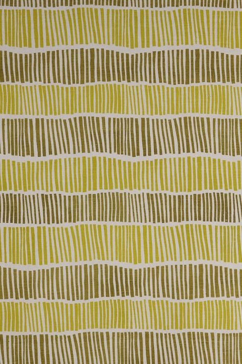 Broken Stripe in Chartreuse & Lemon 1