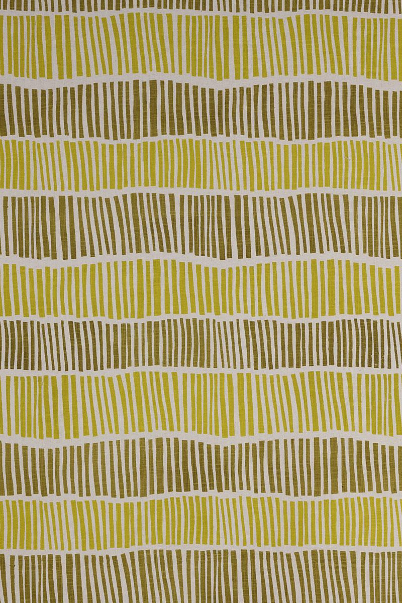 Broken Stripe in Chartreuse & Lemon