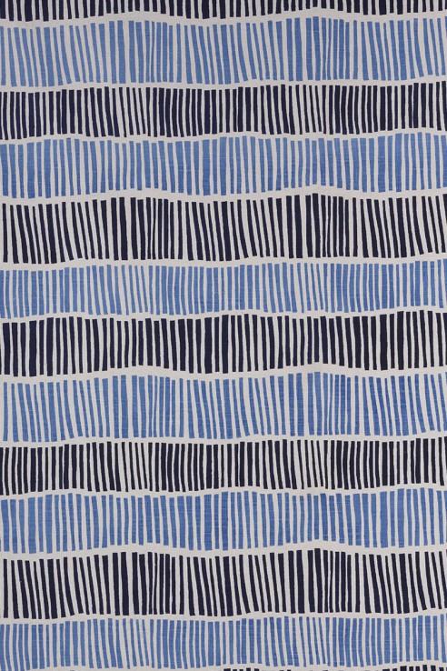 Broken Stripe in Indigo & Periwinkle 1