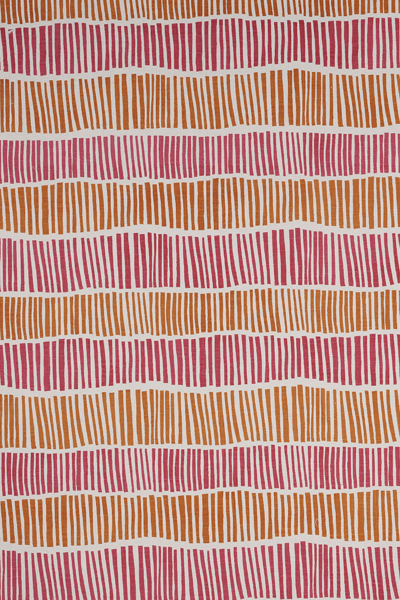 Broken Stripe in Pink & Orange