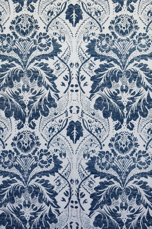 Damask in Navy 1
