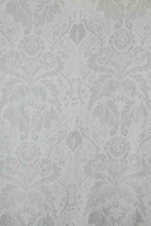 Damask in Silver on White 1