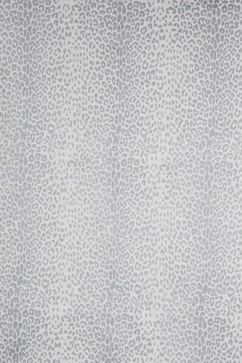 Leopard in Silver on White 1