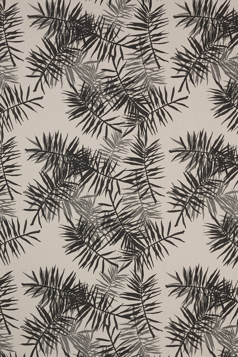 Palmfrond in Charcoal & Grey