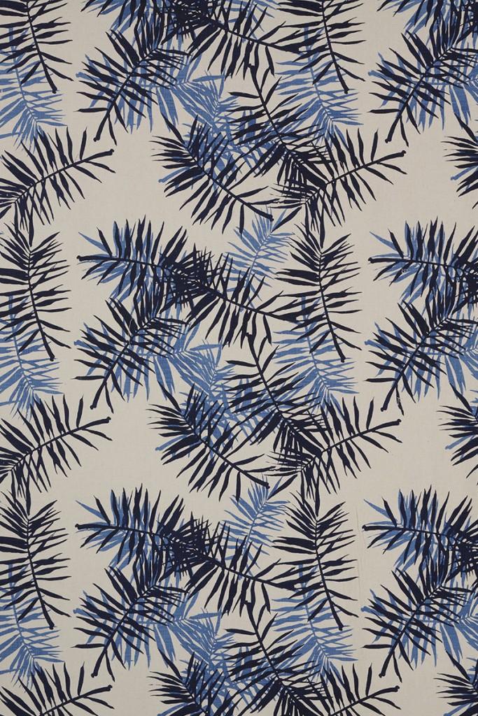 Palmfrond in Indigo & Periwinkle