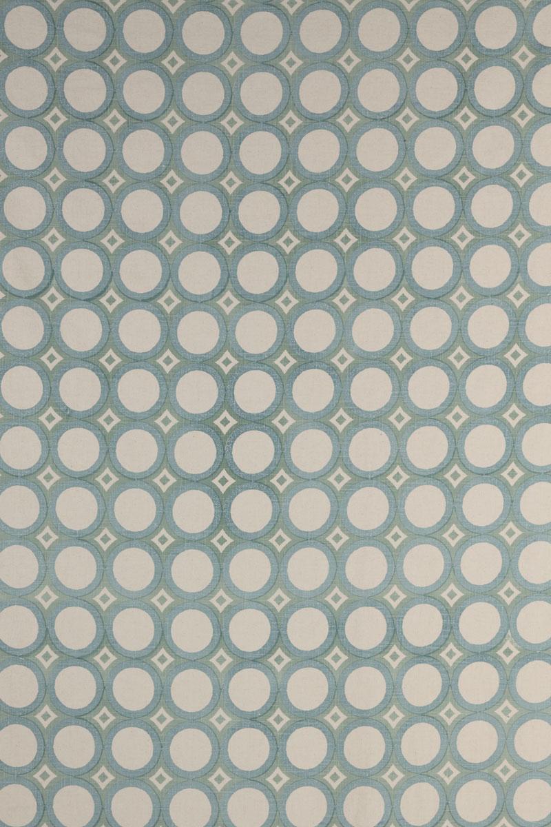 Retro Cirlces in Aqua & Seafoam