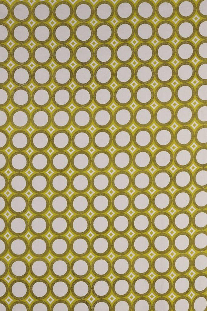 Retro Cirlces in Chartreuse & Lemon