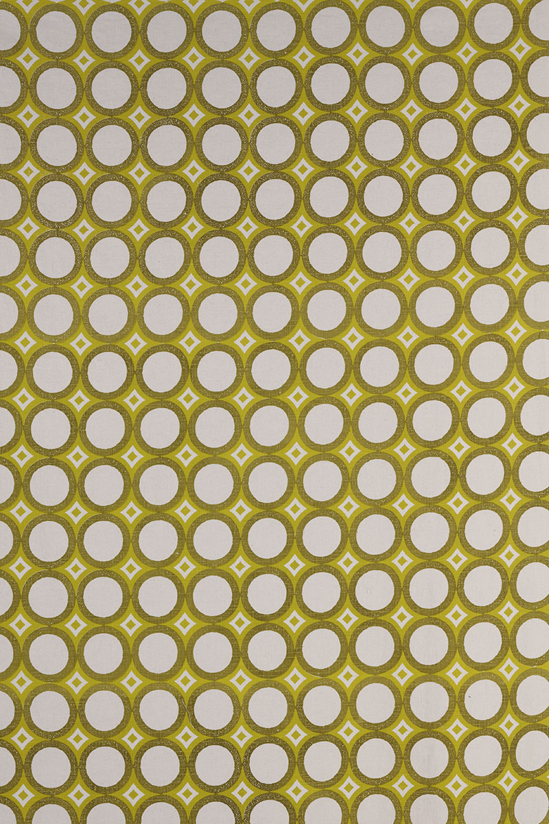 Retro Cirlces in Chartreuse & Lemon