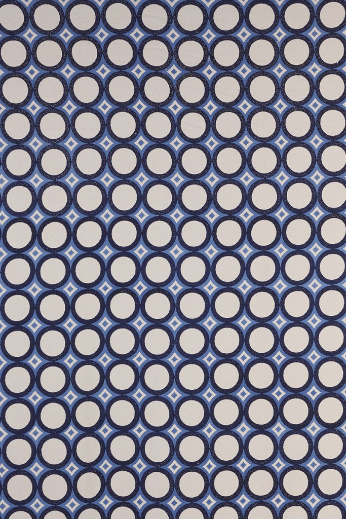 Retro Cirlces in Indigo & Periwinkle
