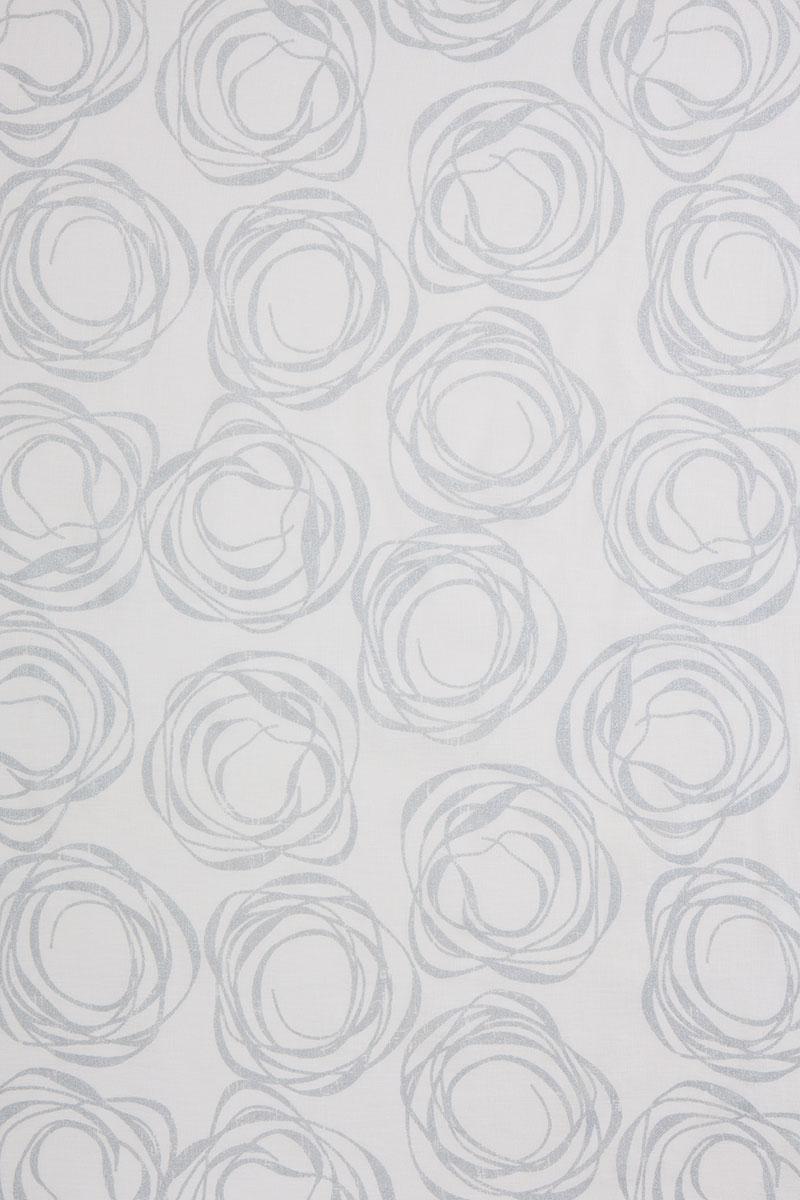 Swirl in Silver on White