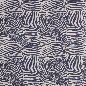 Zebra in Indigo